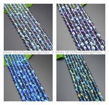 Mystic Aura Quartz Gems Loose Beads Holographic Quartz Smooth Matte DIY Bracelet