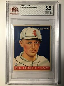 1933 Goudey #101 RICHARD COFFMAN RC BVG 5.5 EX+ ST LOUIS BROWN PSA FRESH GRADED