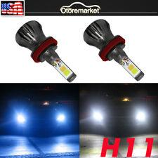 US STOCK 160W H8 H11 H16 6000K White+8000K Blue LED Fog Light Driving Lamp Bulb