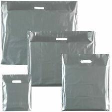 More details for silver punch handle plastic carrier gift bag/ boutique/ - medium: 15