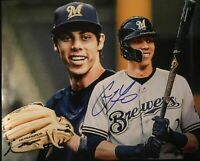 Christian Yelich Autograph Signed 8x10 Photo ( Brewers ) REPRINT