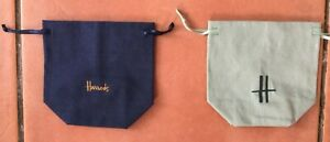 Harrods Logo on Material Gift Bags/Pouches with drawstrings
