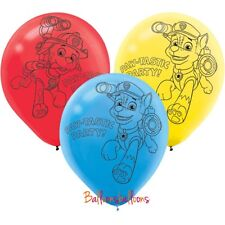 6 x Paw Patrol Latex Balloon Helium Party Birthday Decoration Chase