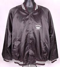 JACK DANIEL'S Satin Jacket-Black-XXL-Tennessee Whiskey-Snap Button-Windbreaker