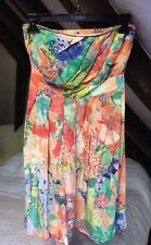 Warehouse Silk Strapless Convertible Sundress XS UK 6 NEW RRP: £60 Floral Summer