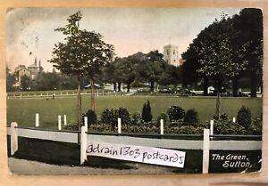 1905 SUTTON LONDON The Green/ Church In Background/ Tooting To Balham