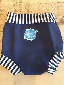 Splash About XL 1-2years Happy Nappy Baby Toddler 12-24 Swimming Pants Navy Blue