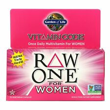 *TO CLEAR* Garden of Life Multi Vitamin RAW ONE for Women *BEST BY 12/2020*