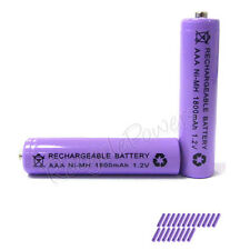 20 pcs AAA 3A 1800mAh Ni-MH Rechargeable Battery Purple