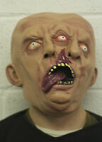 Siamese Twins Mask Halloween Horror 2 Faces Latex Adult Sized Fancy Dress Zombie