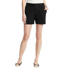 """Ann Taylor LOFT Cotton Shorts with 6"""" Inseam Size 0 Regular Black Color NWT"""