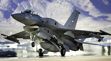 "F-16 FIGHTING FALCON MILITARY AIR FORCE JET 24""x 43"" LARGE HD. WALL POSTER PRINT"