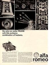 1964 ALFA ROMEO 2600 SPIDER  ~  NICE ORIGINAL PRINT AD