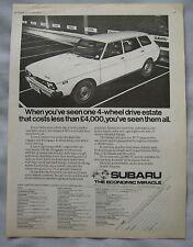 1978 Subaru 4WD Original advert