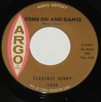 "Clarence Henry 7"" 45 HEAR MOD NORTHERN SOUL Come On and Dance ARGO Jealous Kind"