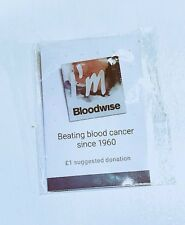 Charity Pin Badge - Blood Cancer Awareness for Bloodwise Charity