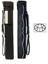 Delta 3x6 White HUSTLER Case - Memory Foam - Leather Cue Case