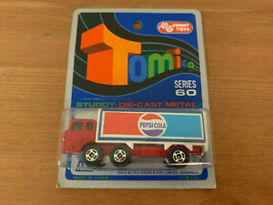 Tomica Pepsi Cola Fuso Truck on Blue Card Made For G.J Coles Melbourne Australia