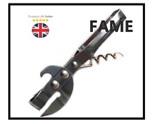 ChefAid Traditional Vintage Retro Can Tin Bottle Opener & Corkscrew Stab Can UK