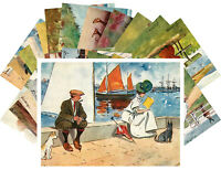 Postcards Pack [24 cards] Love Scenes Man & Woman Lance Thackeray Vintage CD3037
