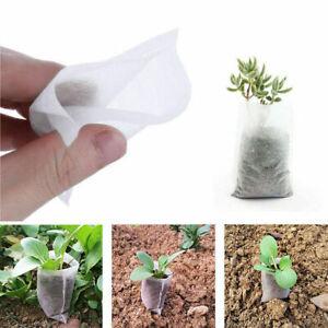 100Pcs Nursery Bags White Succulent Plant Grow Bags Non-woven Fabrics Garden