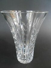 "Signed Waterford~MINT CUT CRYSTAL GLASS  8""H LARGE VASE~Ireland"