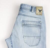 PME LEGEND Herren PTR990-SBT Gerades Bein Jeans Größe W33 L36 APZ486