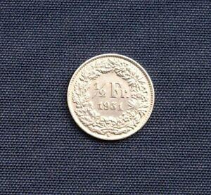Swiss Half Franc Silver Coin 1931