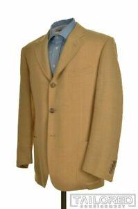 CORNELIANI Solid Beige WOOL LINEN Blazer Sport Coat Jacket - EU 52 / US 42 R