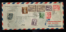 1952 Tangier Spanish Morocco Airmail Cover to USA Standard Coconut Corp