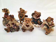 Lot (6) Boyds Bears Bearstone Collection- Valentine Theme Figurine