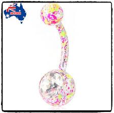 Hot Body Piercing Jewelry Crystal Rhinestone Dangle Button Belly Navel Ring Bar