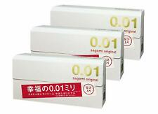 AU Stock 3 x SAGAMI 001 Japanese Original Ultra Thin 0.01mm Condoms (15 pieces)