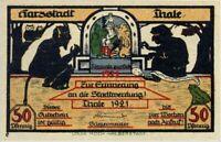 RARE ANTISEMITIC BANKNOTE! DEVIL CONFERS w HUNCHBACK JEW Historic German Judaica