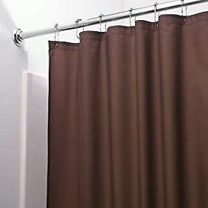 Shower Curtain Liner Chocolate Brown Vinyl Machine Washable
