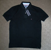 Tommy Hilfiger Black collared Golf Polo Casual Short Sleeve Shirt Mens - Large L