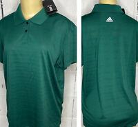 Adidas Golf Polo Shirt Climalite Short Sleeve Forrest Green Women Sz XL NWT
