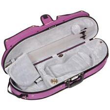 Bobelock Half Moon Puffy 1047 4/4 Violin Case Purple Exterior and Grey Interior