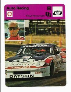 1979 Paul Newman Sportscaster Auto Racing Datsun 510 Card #83-03 NM+