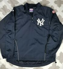 New York Yankees Majestic Cool Base Pullover Windbreaker Jacket sz XL Dugout