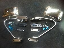81-96 FORD F100 PARTS MIRROR PAIR NEW CHROME / STAINLESS MIRRORS LEFT + RIGHT