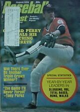 1974 BASEBALL DIGEST ( GAYLORD PERRY INDIANS CVR, MICKEY MANTLE, WILLIE MAYS +