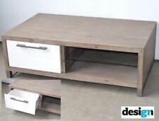MOSMAN COFFEE TABLE 2 DRAWER GLASS SHELF FULLY ASSEMBLED SOLID HARDWOOD Timber