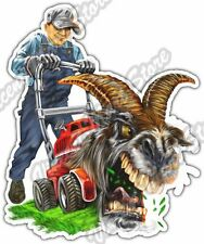 "Billy Goat Mower Lawn Landscaping Grass Car Bumper Vinyl Sticker Decal 4""X5"""