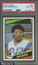 1984 Topps Football #280 Eric Dickerson Los Angeles Rams RC Rookie HOF PSA 8