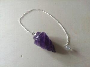 Amethyst crystal healing wand, chakra balancing energy dowsing