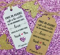 "Fairy Tale Wedding Favour Gift Tag ""Thank you"" Guest Label, Personalised"