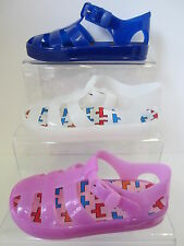 Girls Navy/White/Pink Spot On Jelly Shoes UK Sizes 10 - 1 H0178