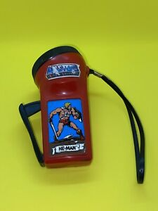 Vintage He-Man Masters Of The Universe Flash Light 1983 Hand Pump Powered!