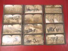 WWI Era AEF US Army - Lot of 12 Stereoview Cards - Keystone View Company